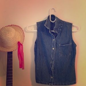Chick Guess Vest Denim Jacket, XSmall
